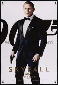 6r812 SKYFALL int'l teaser DS 1sh 2012 Daniel Craig as James Bond over white background, IMAX, rare!