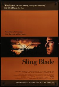 6r815 SLING BLADE 1sh 1996 image of star & director Billy Bob Thornton as Carl!