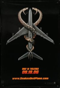6r818 SNAKES ON A PLANE teaser 1sh 2006 Samuel L. Jackson, Margulies, campy thriller, great art!