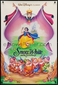 6r820 SNOW WHITE & THE SEVEN DWARFS DS 1sh R1993 Disney animated cartoon fantasy classic!