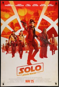 6r824 SOLO advance DS 1sh 2018 A Star Wars Story, Ron Howard, Ehrenreich, top cast, Chewbacca!