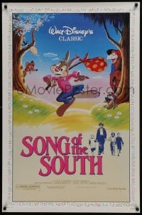 6r828 SONG OF THE SOUTH 1sh R1986 Walt Disney, Uncle Remus, Br'er Rabbit & Br'er Bear!