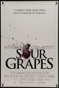 6r830 SOUR GRAPES advance DS 1sh 1998 Atlantic City gambling, directed by Larry David!