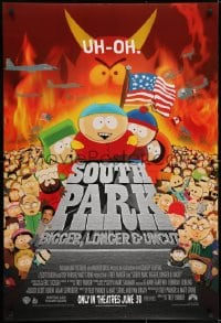 6r831 SOUTH PARK: BIGGER, LONGER & UNCUT int'l advance DS 1sh 1999 Parker & Stone animated musical!