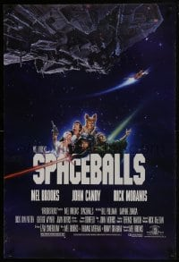 6r833 SPACEBALLS 1sh 1987 Mel Brooks sci-fi Star Wars spoof, Bill Pullman, Moranis, PG-rated!