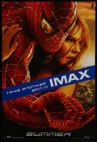 6r840 SPIDER-MAN 2 IMAX teaser DS 1sh 2004 close-up image of Tobey Maguire & Kirsten Dunst!