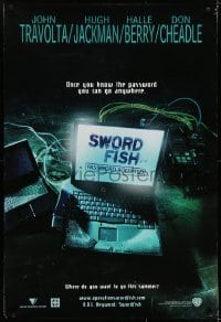 6r891 SWORDFISH teaser DS 1sh 2001 John Travolta, Hugh Jackman, Don Cheadle, Halle Berry!