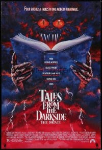 6r893 TALES FROM THE DARKSIDE DS 1sh 1990 George Romero & Stephen King, creepy art of demon!