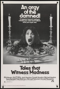 6r894 TALES THAT WITNESS MADNESS 1sh 1973 wacky screaming head on food platter horror image!