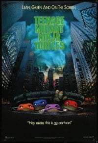 6r898 TEENAGE MUTANT NINJA TURTLES teaser 1sh 1990 live action, hey dude, this is NO cartoon!