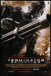 6r902 TERMINATOR SALVATION advance DS 1sh 2009 Christian Bale, Worthington, the end begins!