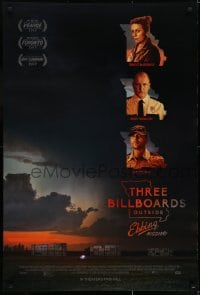 6r908 THREE BILLBOARDS OUTSIDE EBBING, MISSOURI advance DS 1sh 2017 McDormand, Harrelson, Rockwell!
