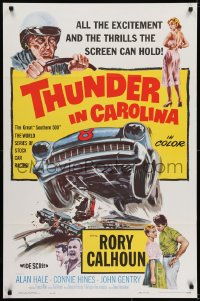 6r911 THUNDER IN CAROLINA 1sh 1960 Rory Calhoun, artwork of the World Series of stock car racing!