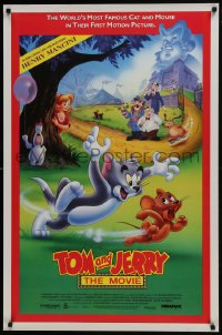 6r921 TOM & JERRY THE MOVIE 1sh 1992 cat & mouse, the world is a kinder, gentler place!