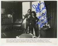 6s282 FOG signed 8x10 still 1980 by BOTH director John Carpenter AND Adrienne Barbeau, candid!