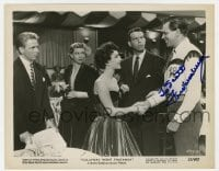 6s285 FRED MACMURRAY signed 8x10.25 still 1951 with Liz Taylor & others in Callaway Went Thataway!