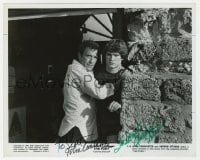 6s286 FURY signed 8x10 still 1978 by BOTH John Cassavetes AND Andrew Stevens, great close up!