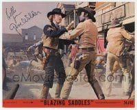 6s289 GENE WILDER signed 8x10 mini LC #5 1974 close up with Cleavon Little in Blazing Saddles!