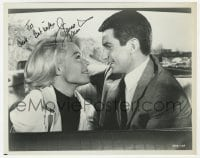 6s293 GEORGE HAMILTON signed 8x10 still 1967 c/u with Sandra Dee in Doctor You've Got To Be Kidding!