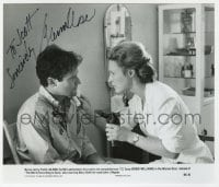 6s302 GLENN CLOSE signed 7.25x8 still 1982 c/u with Robin Williams in The World According to Garp!