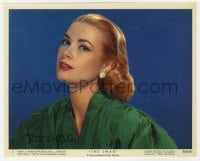 6s303 GRACE KELLY signed color 8x10 still #7 1956 best portrait of the beautiful star in The Swan!
