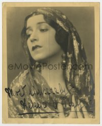 6s315 HELENA D'ALGY signed deluxe 8x10 still 1920s head & shoulders portrait of the actress!