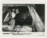 6s319 HIGH SPIRITS signed 8.25x10 still 1988 by BOTH Peter Gallagher AND Jennifer Tilly!