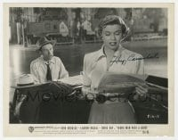 6s320 HOAGY CARMICHAEL signed 8x10.25 still 1950 at piano by Doris Day in Young Man with a Horn!