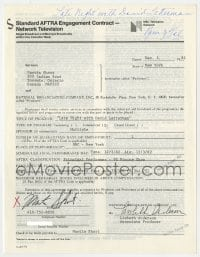6s017 MARTIN SHORT signed contract 1982 appearing on Late Night with David Letterman for $544.75!