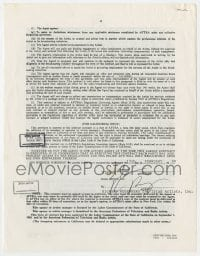 6s018 SINBAD signed contract 1990 joining the American Federation of Television & Radio Artists!