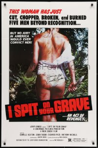 6s023 I SPIT ON YOUR GRAVE signed 1sh 1978 by Camille Keaton, who tortured 5 men beyond recognition!