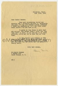 6s007 HENRY FONDA signed letter 1936 replying to his first fan letter that included a poem!