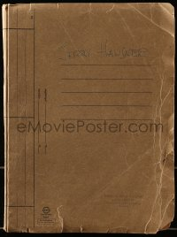 6s001 PATHS OF GLORY 3rd draft script Feb 1957, signed by Jerry Hausner, the MC in the added ending!