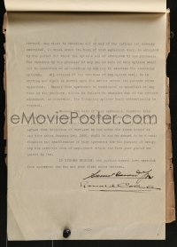 6s011 RONALD COLMAN/SAMUEL GOLDWYN signed contract 1924 Colman agreed to work for $1,250 a week!