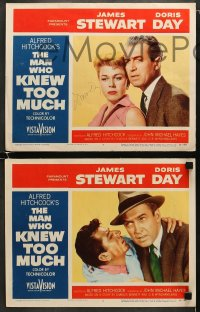 6s036 MAN WHO KNEW TOO MUCH 8 LCs 1956 one signed by Doris Day, who's with James Stewart, Hitchcock!