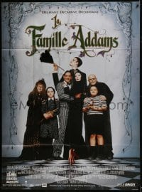6t745 ADDAMS FAMILY French 1p 1991 Raul Julia, Christina Ricci, Christopher Lloyd, Anjelica Huston
