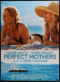6t746 ADORATION DS French 1p 2013 c/u of Perfect Mothers Naomi Watts & Robin Wright on the beach!