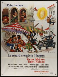 6t748 AFTER THE FOX French 1p 1968 Vittorio De Sica, Peter Sellers, Grinsson art like Frazetta!