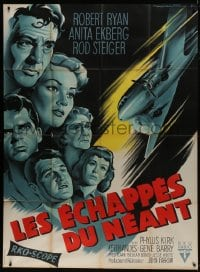 6t753 BACK FROM ETERNITY French 1p 1958 different Roger Soubie art of Ekberg, Robert Ryan & cast!
