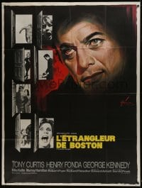 6t765 BOSTON STRANGLER French 1p 1968 best different Boris Grinsson art of Tony Curtis & victims!