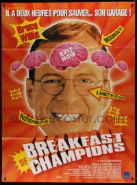 6t766 BREAKFAST OF CHAMPIONS French 1p 1999 directed by Alan Rudolph, wacky image of Bruce Willis!