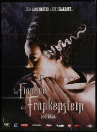 6t767 BRIDE OF FRANKENSTEIN French 1p R2008 cool super close up of Elsa Lanchester in the title role!