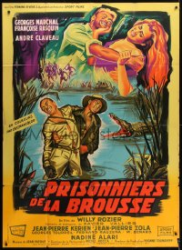 6t929 PRISONERS OF THE CONGO French 1p 1960 Belinsky art of Marchal & Rasquin in savage Africa!