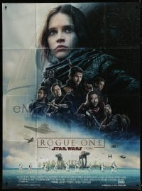 6t940 ROGUE ONE French 1p 2016 A Star Wars Story, Felicity Jones, top cast montage, Death Star!