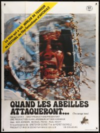 6t944 SAVAGE BEES French 1p 1978 different terrifying horror image of bees attacking girl!
