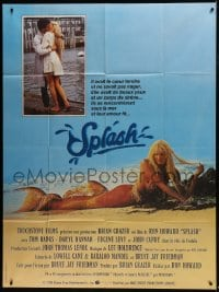 6t959 SPLASH French 1p 1984 different image of Tom Hanks & mermaid Daryl Hannah + kissing in NY!