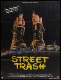 6t962 STREET TRASH French 1p 1987 completely different gruesome artwork of severed feet in boots!