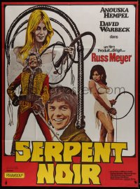 6t966 SWEET SUZY French 1p 1973 Russ Meyer, sexiest Anouska Hempel, different image, Black Snake!