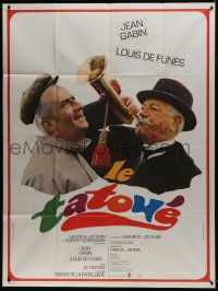 6t968 TATTOOED ONE French 1p 1968 great close up of Jean Gabin with horn & Louis de Funes!