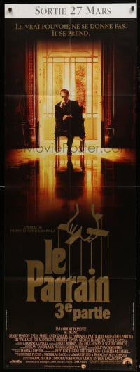 6t732 GODFATHER PART III French door panel 1990 best image of Al Pacino, Francis Ford Coppola!